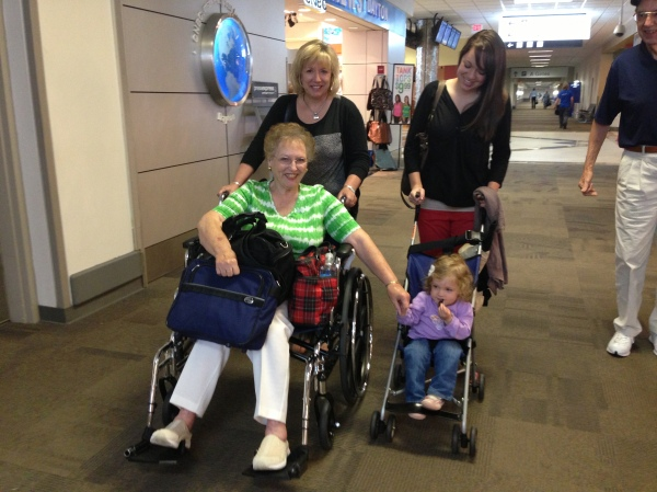 I absolutely love this photo of Audrey traveling last summer with her Great-Grandmother, Nonna, and Aunt Tiffany!